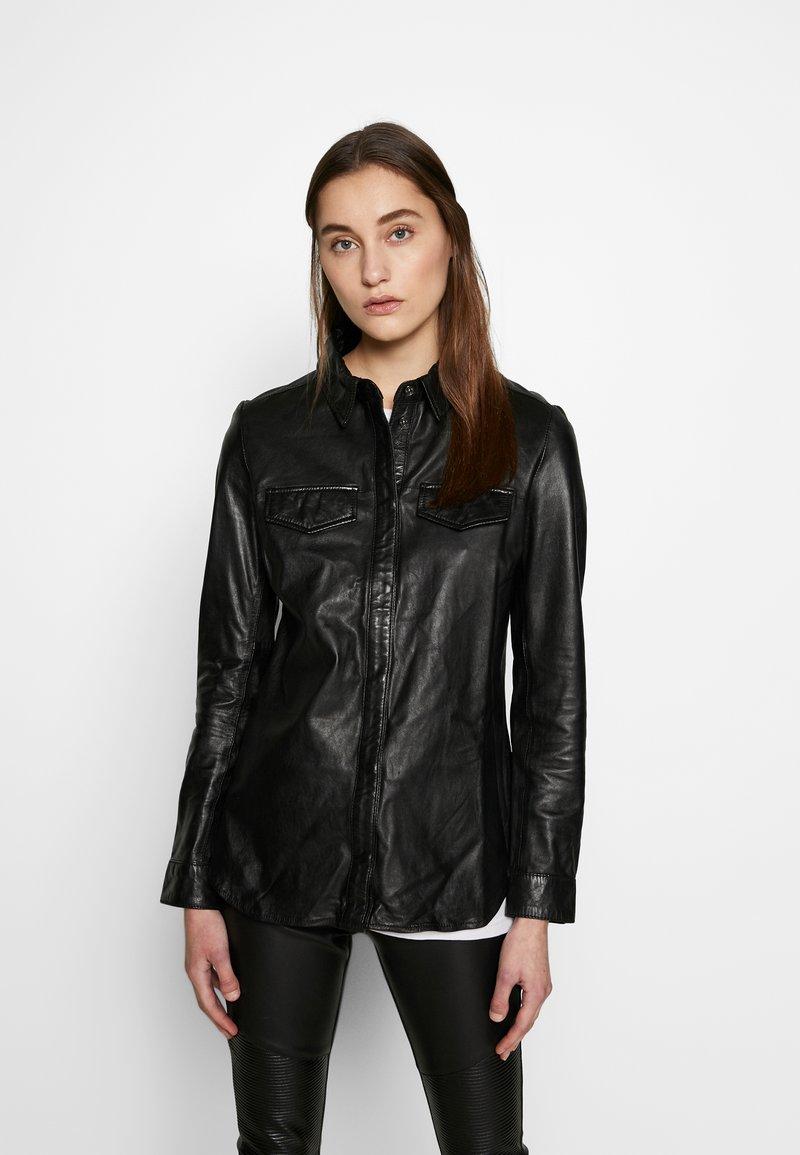Ibana - MIES - Button-down blouse - black
