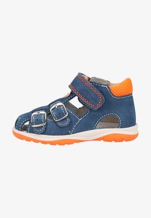Sandals - blue/neon orange
