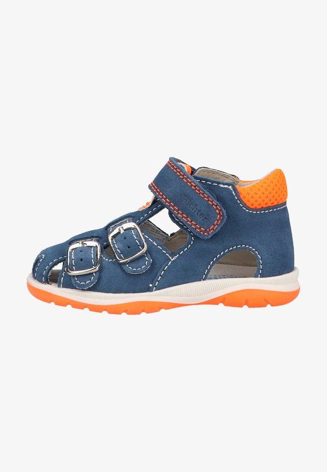 Sandalen - blue/neon orange