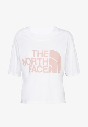 WOMENS HALF DOME CROPPED TEE - T-shirt imprimé - white
