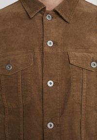J.CREW - CORDUROY TRUCKER JACKET - Summer jacket - saddle brown - 5
