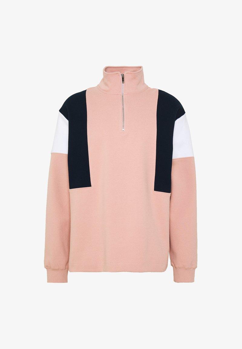 Topman - YATES 1/4 ZIP - Bluza - pink