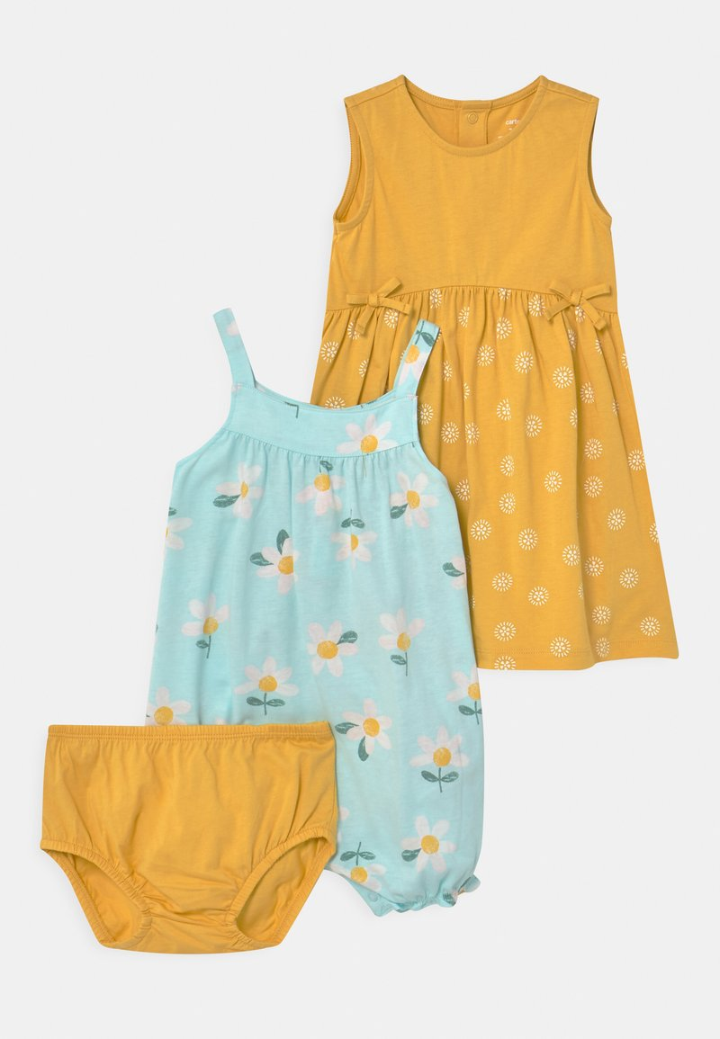 Carter's - FLORAL SET - Overal - mint/yellow