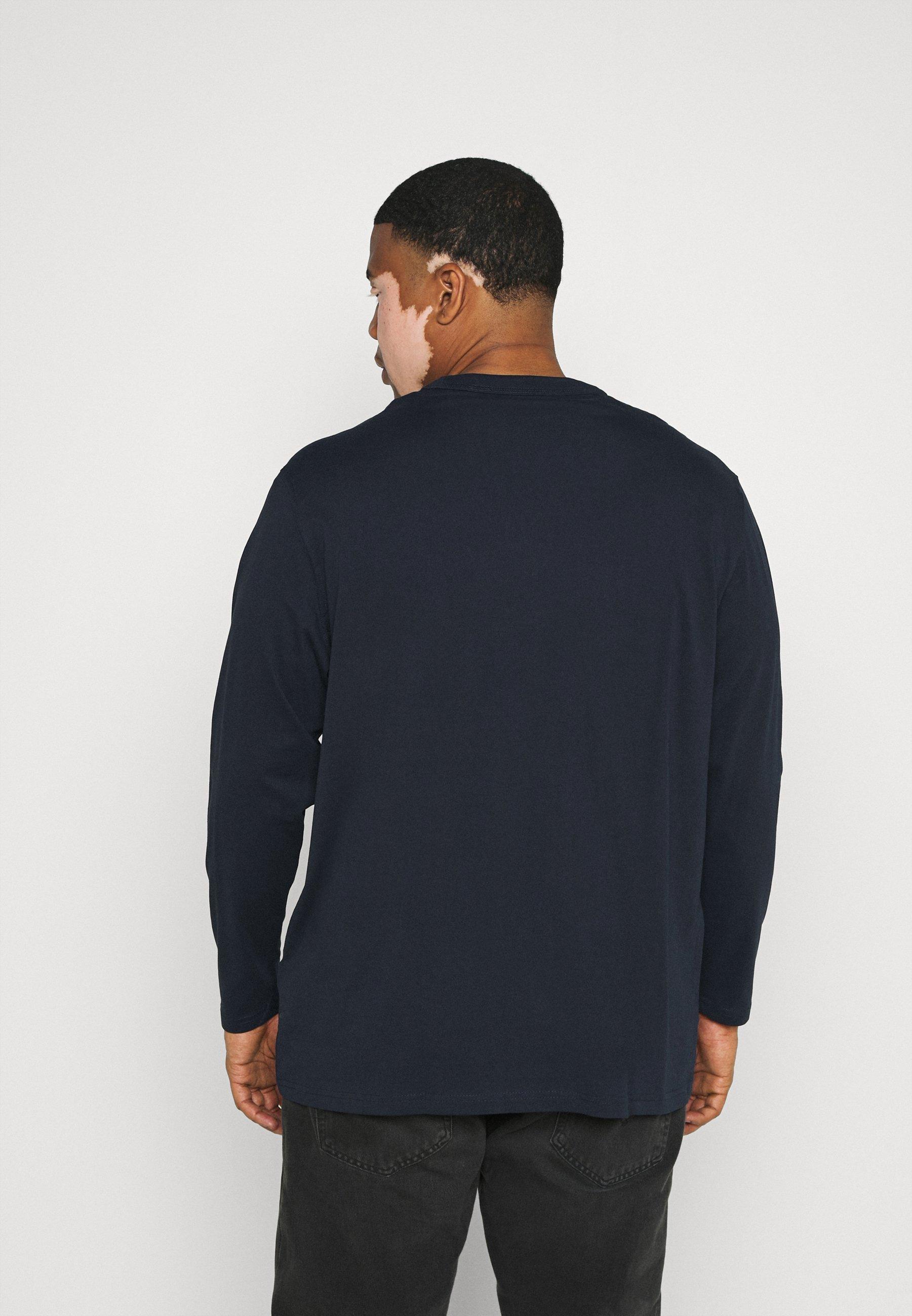 TOM TAILOR MEN PLUS Long sleeved top - dark blue X6Ls4