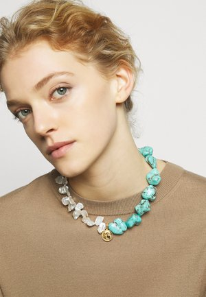 ATHÉNA NECKLACE - Collier - gold-coloured/turquoise