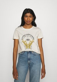 ONLY - ONLSYMBOL MIND - Print T-shirt - pumice stone - 0