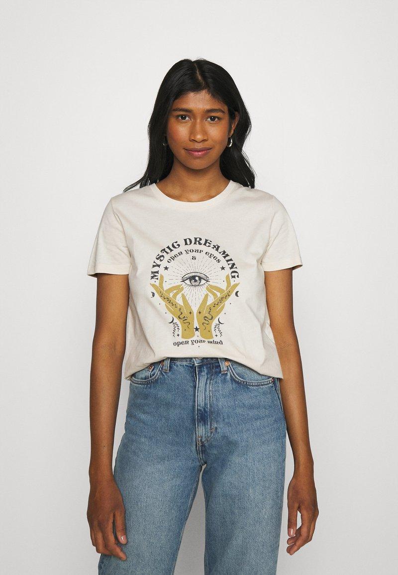ONLY - ONLSYMBOL MIND - Print T-shirt - pumice stone