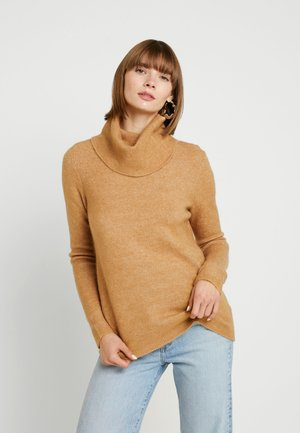VMBLAKELY IVA COWLNECK - Jumper - tobacco brown/melange
