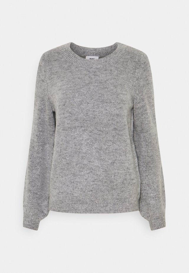 OBJEVE NONSIA - Sweter - light grey melange