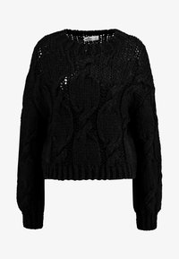 CHUNKY CABLE - Jumper - black