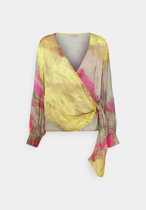 BLOUSE OVERLAP BLURRED PRINT - Blouse - multi-coloured