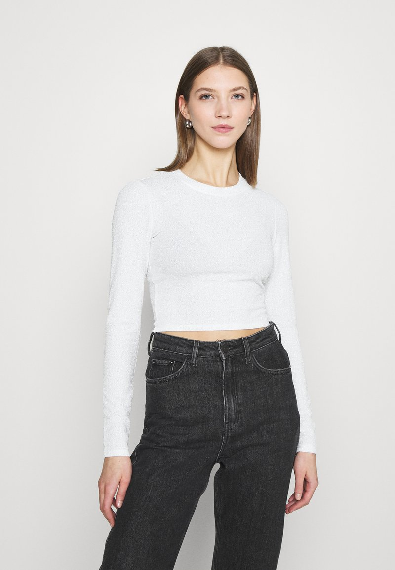 Monki - PARTY - Long sleeved top - offwhite