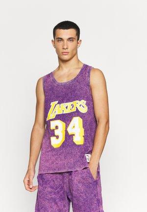 NBA LOS ANGELES LAKERS SHAQUILLE O'NEAL ACID WASH TANK - Club wear - purple