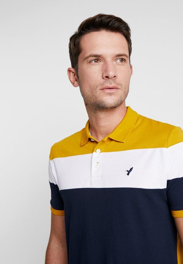 Pier One Koszulka polo - dark blue/mustard/granatowy Odzież Męska VHHL