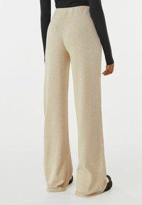 Bershka - Trousers - beige - 2