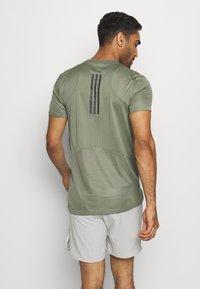 adidas Performance - HEAT.RDY TRAINING SLIM SHORT SLEEVE TEE - T-shirt imprimé - legend green - 2