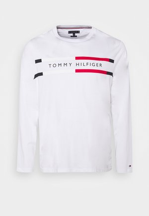 CHEST STRIPE TEE - Longsleeve - white