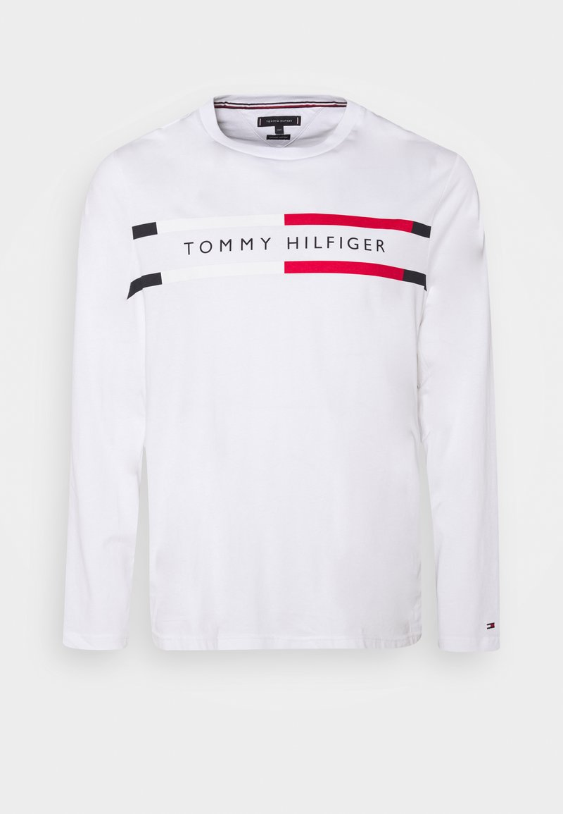 Tommy Hilfiger - CHEST STRIPE TEE - Longsleeve - white