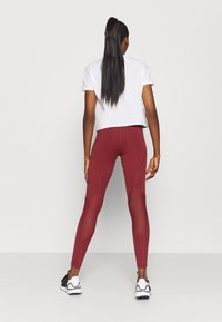 adidas Performance - Leggings - legend red/maroon - 2