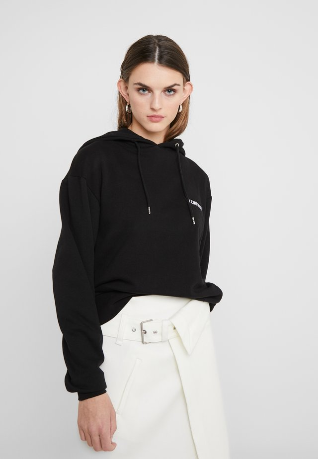 BULKY HOODIE - Jersey con capucha - black
