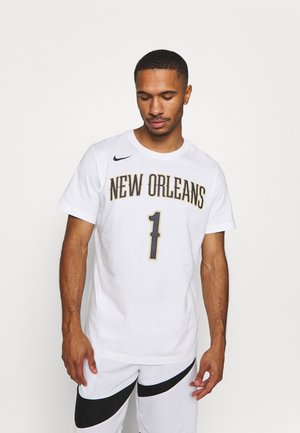 NBA ZION WILLIAMSON NEW ORLEANS PELICANS NAME & NUMBER TEE - Club wear - white
