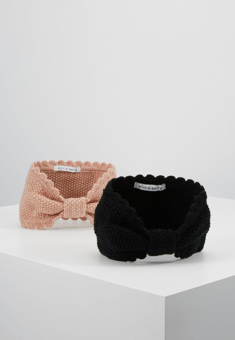 mint&berry - 2 PACK - Ear warmers - black/rose