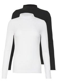 New Look - TURTLE NECK 2 PACK - Topper langermet - black/white - 0
