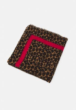 ONLDIDDE LEOPARD  SQUARE SCARF - Šátek - virtual pink