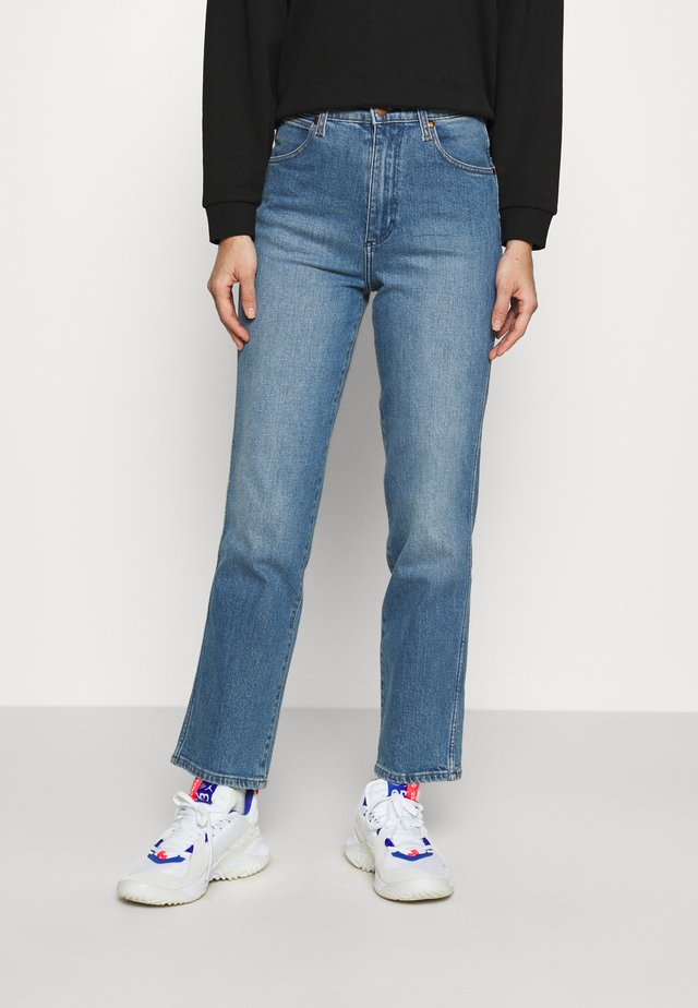WILD WEST - Straight leg jeans - mid blue