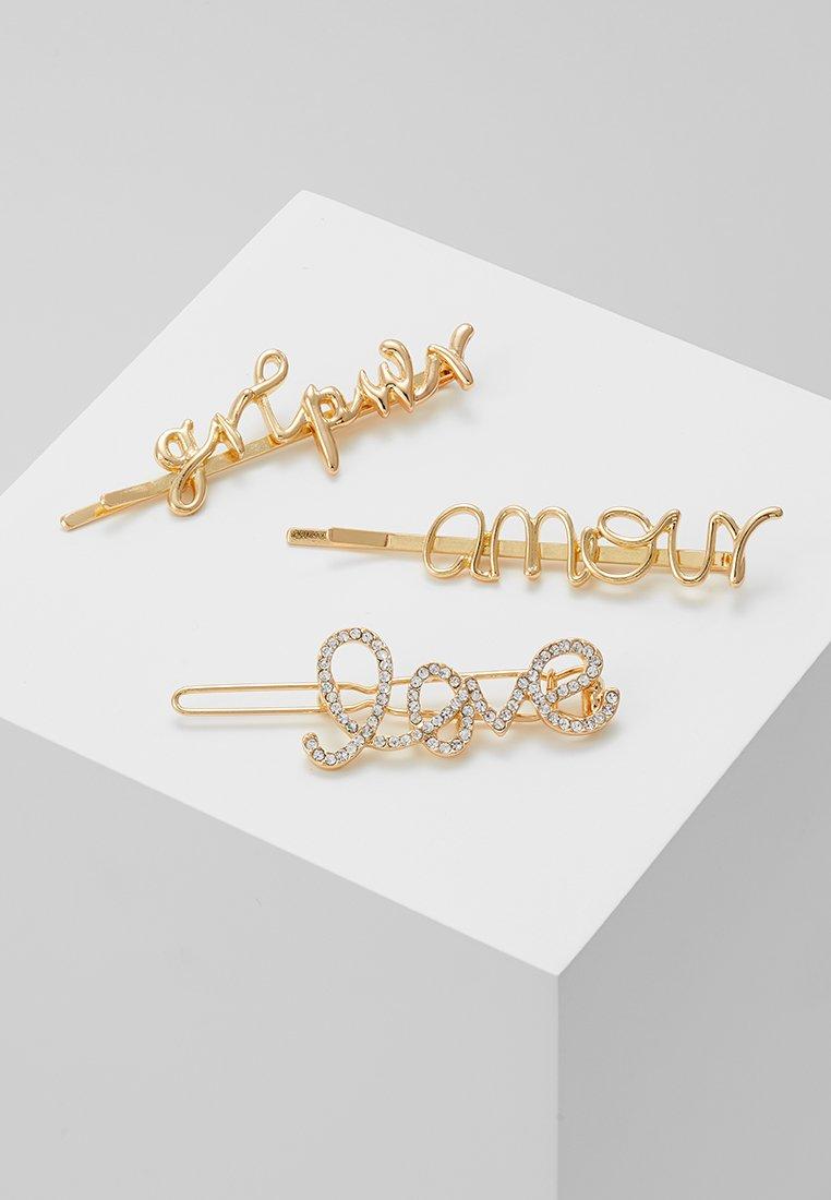 Pieces - PCSANNE HAIRCLIPS 3 PACK - Accessoires cheveux - gold-coloured