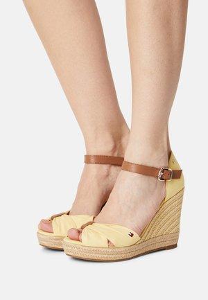 ELENA - High heeled sandals - delicate yellow