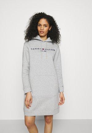 REGULAR HILFIGER HOODIE  - Vestido informal - light grey heather