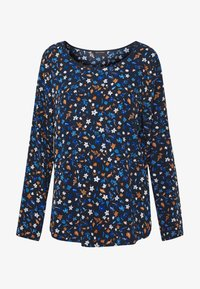 Marc O'Polo - CREW NECK LONG SLEEVED SPECIAL SIDE SEAM PRINTED - Blusa - multi/night sky - 3