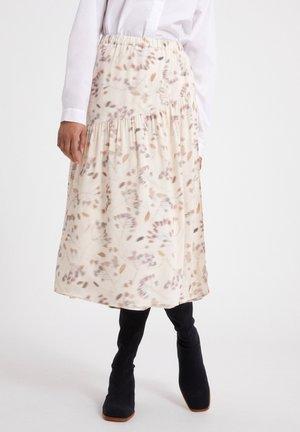 SVETLAA PRESSED - A-line skirt - oatmilk