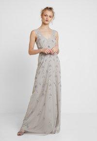 Maya Deluxe - STRAP DRESS WITH EMBELLISHMENT - Společenské šaty - grey - 0