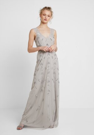 STRAP DRESS WITH EMBELLISHMENT - Gallakjole - grey