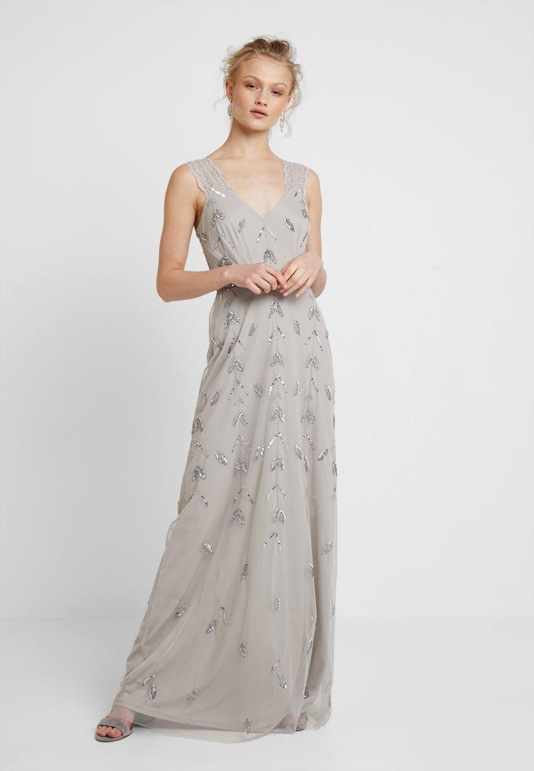 Maya Deluxe - STRAP DRESS WITH EMBELLISHMENT - Společenské šaty - grey