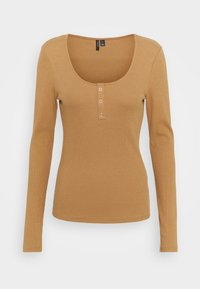 Vero Moda - Maglietta a manica lunga - tobacco brown - 0