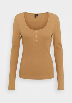 Long sleeved top - tobacco brown