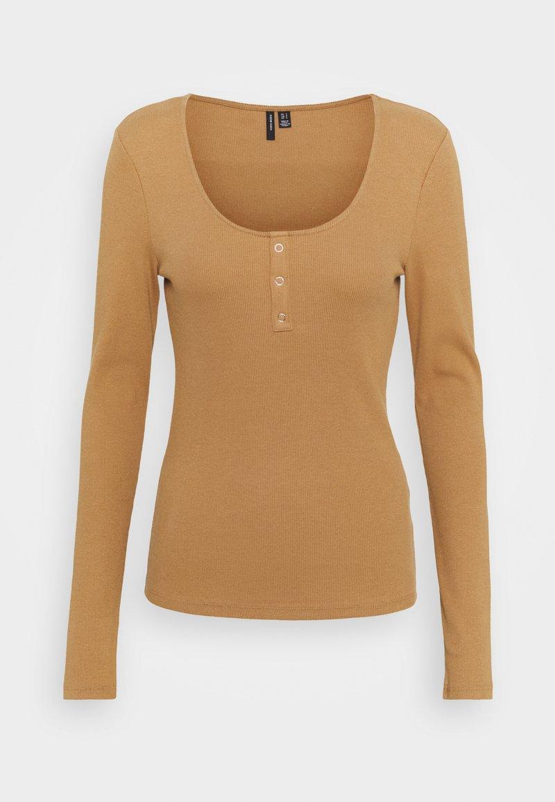 Vero Moda - Maglietta a manica lunga - tobacco brown