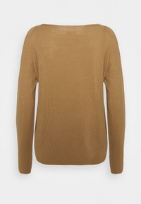 Marc O'Polo - LONGSLEEVE SOLID STRUCTURED SEAMLESS - Jumper - sandy beach - 1