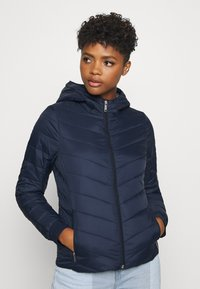 Hollister Co. - LIGHTWEIGHT PUFFER - Light jacket - navy - 0