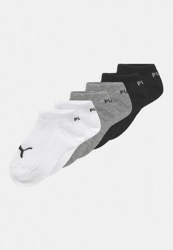 INVISIBLE 6 PACK UNISEX - Socks - grey/white/black