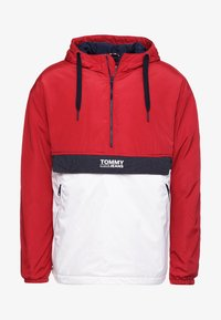 Tommy Jeans - COLORBLOCK POPOVER - Light jacket - red - 4