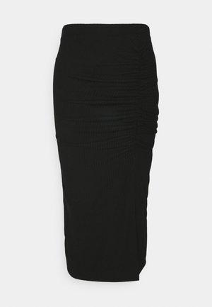 ONLNELLA SLIT SKIRT - Pouzdrová sukně - black