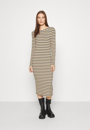 Jersey dress - navy/beige