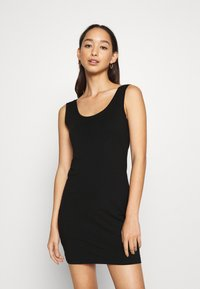 Even&Odd - BASIC JERSEYKLEID - Shift dress - black - 0