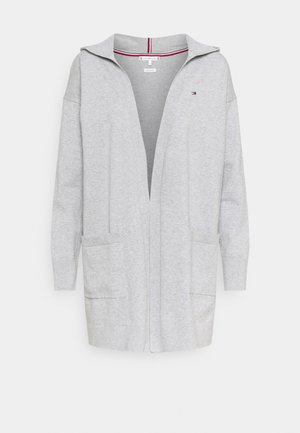 LONG HOODIE CARDI - Cardigan - light grey heather