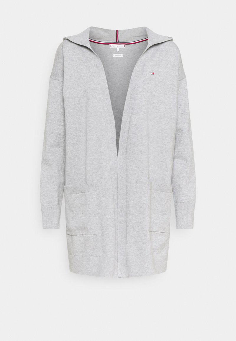 Tommy Hilfiger - LONG HOODIE CARDI - Cardigan - light grey heather
