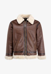 Alpha Industries - Faux leather jacket - brown - 3